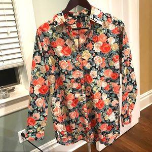 Floral Button Down Shirt 🌸